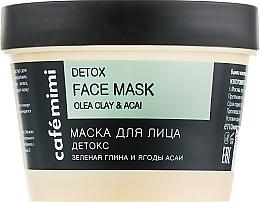 "Profumi e cosmetici Maschera viso ""Detox"" - Cafe Mimi Face Mask"