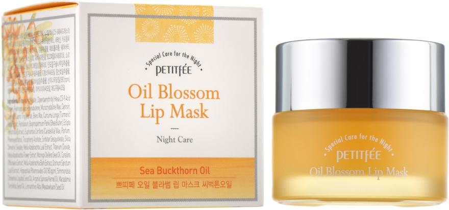 Maschera labbra da notte con vitamina E e olio di olivello spinoso - Petitfee&Koelf Oil Blossom Lip Mask