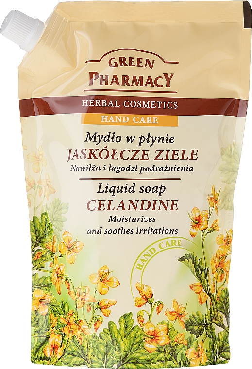 "Sapone liquido mani ""Celidonia"" - Green Pharmacy Celandine Liquid Soap (Doypack)"