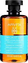 Profumi e cosmetici Shampoo idratante con acido ialuronico e aloe - Apivita Moisturizing Shampoo With Hyaluronic Acid & Aloe