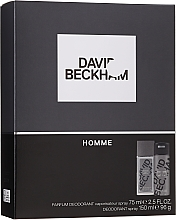 Profumi e cosmetici David Beckham Homme - Set (b/spray/75ml + deo/150ml)