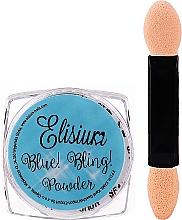 Profumi e cosmetici Polvere brillante per unghie - Elisium Blue Bling Powder