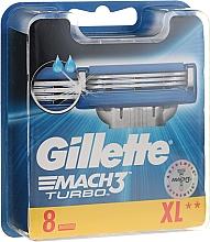 Profumi e cosmetici Lamette sostituibili, 8 pezzi - Gillette Mach3 Turbo