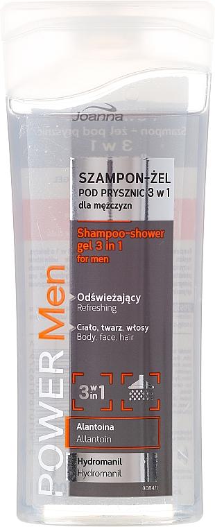 Shampoo-gel 3in1, da uomo - Joanna Power Men Shampoo&ShowerGel