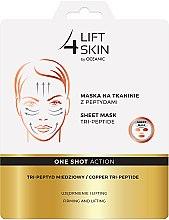 Profumi e cosmetici Maschera in tessuto con peptidi - AA Cosmetics Lift 4 Skin Sheet-Mask Copper Tri-Peptide