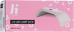 Set per unghie - Hi Hybrid Starter Set UV Gel Polish Manicure Easy Like A Selfie (n/base/5ml + n/top/5ml + n/polish/5ml + n/cl/50ml + lamp + baff + n/file/1pc) — foto N11