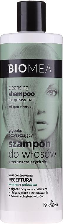Shampoo detergente per capelli grassi - Farmona Biomea Cleansing Shampoo — foto N1