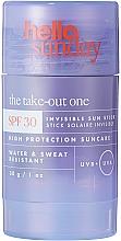Profumi e cosmetici Stick solare per viso e corpo - Hello Sunday The Take-Out One Invisible Sun Stick SPF 30