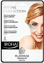 Profumi e cosmetici Patch occhi - Iroha Nature Platinum Patches Extra Glowing Eyes