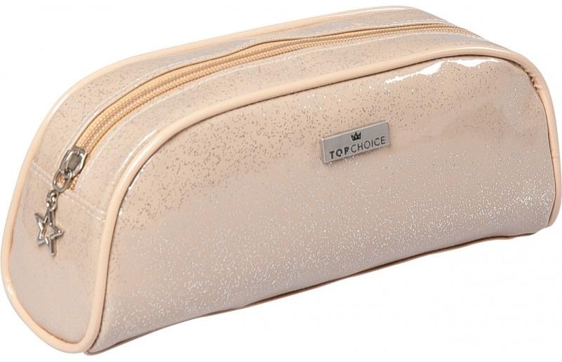 """Beauty case """"Glitter"""", 97904, beige - Top Choice — foto N1"""