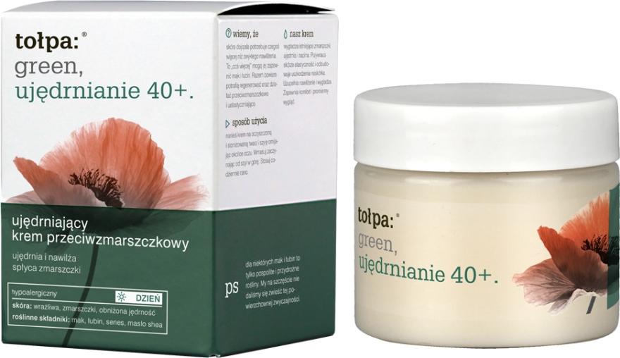 Crema viso antirughe rassodante e idratante da giorno - Tolpa Green Firming 40+ Rejuvenating Anti-Wrinkle Day Cream