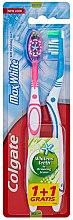 Profumi e cosmetici Spazzolino da denti Max White, blu+rosa - Colgate Max White Medium Polishing Star