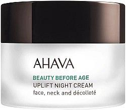 Profumi e cosmetici Crema lifting da notte - Ahava Beauty Before Age Uplifting Night Cream For Face, Neck & Decollete