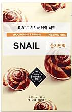 Profumi e cosmetici Maschera antietà con estratto di bava di lumaca - Etude House Therapy Air Mask Snail