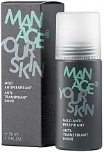 Profumi e cosmetici Antitraspirante, da uomo - Dr. Spiller Manage Your Skin Mild Antiperspirant