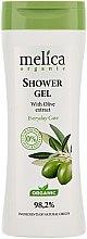 Profumi e cosmetici Gel doccia con estratto di oliva - Melica Organic Shower Gel