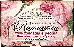 """Profumi e cosmetici Sapone """"Rosa fiorentina e peonie"""" - Nesti Dante Romantica Soap"""