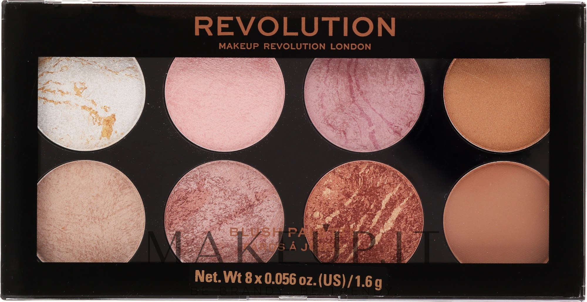 Palette blush - Makeup Revolution Blush Palette — foto 02 - Golden Sugar