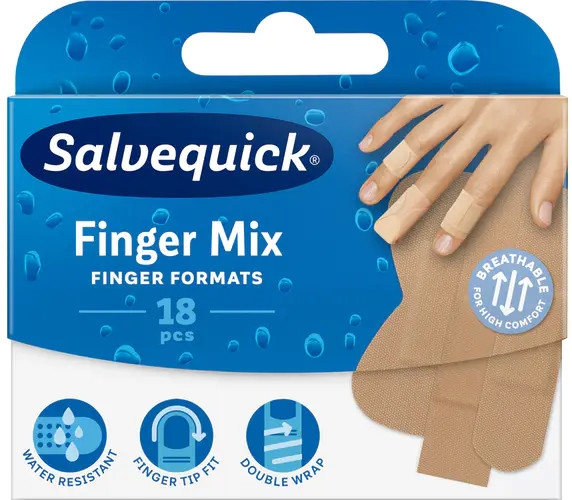 Cerotto per dita delle mani e dei piedi - Salvequick Finger Mix