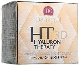 Profumi e cosmetici Crema viso da notte all'acido ialuronico puro - Dermacol Hyaluron Therapy 3D Wrinkle Night Filler Cream