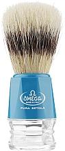 Profumi e cosmetici Pennello da barba, 10218, blu - Omega