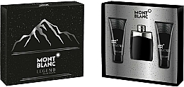Profumi e cosmetici Montblanc Legend - Set (edt/100ml+ash/balm/100ml+sh/gel/100ml)