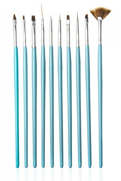 Set pennelli per manicure, 4069, 10 pz - Neess (10pz)