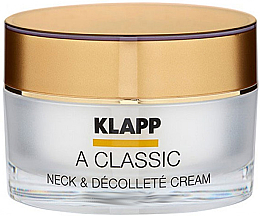 Profumi e cosmetici Crema per il collo e il decolleté - Klapp A Classic Neck & Decollete Cream