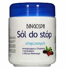 Profumi e cosmetici Sale per piedi, anti-stanchezza - BingoSpa Salt for Tired Feet