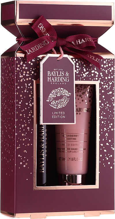 Set - Baylis & Harding Cranberry Martini (parfum/12ml + h/cr/50ml)