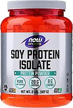 Profumi e cosmetici Isolato di proteine di soia, sapore neutro - Now Foods Sports Soy Protein Isolate Natural Unflavored