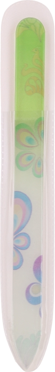 Lima in vetro per unghie, con fiore, verde-chiaro - Tools For Beauty Glass Nail File With Flower Printed
