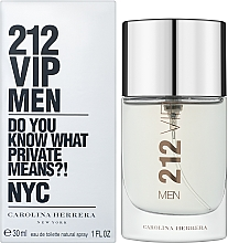 Profumi e cosmetici Carolina Herrera 212 VIP Men - Eau de toilette