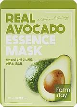 Profumi e cosmetici Maschera viso in tessuto con estratto di avocado - FarmStay Real Avocado Essence Mask