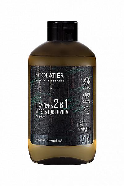Bagnoschiuma e shampoo per uomo 2 in 1 - Ecolatier Urban Energy