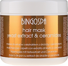 Maschera per capelli con estratto di lievito - BingoSpa Hair Mask From Yeast Extract — foto N1