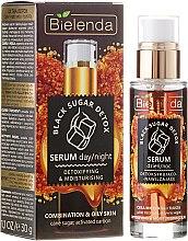 Profumi e cosmetici Siero viso detossinante e idratante giorno / notte - Bielenda Black Sugar Detox Serum