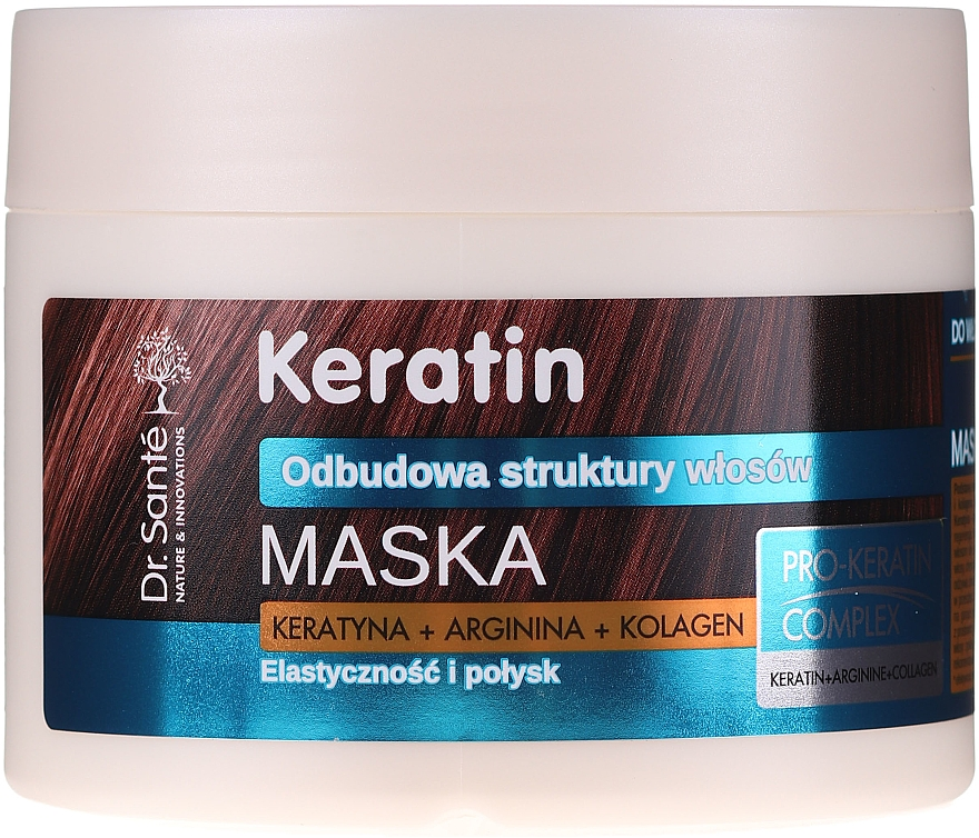 Maschera per capelli opachi e fragili - Dr. Sante Keratin Mask