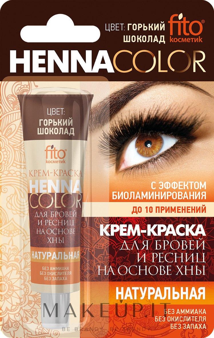 Crema-tinta per le sopracciglia e le ciglia a base di henné - Fito cosmetica Henna Color — foto Gorzka czekolada