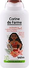 """Profumi e cosmetici Gel doccia """"Moana"""" - Corine de Farme Vaiana Shower Gel 3 in 1"""