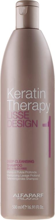 Shampoo profondamente purificante - Alfaparf Lisse Design Keratin Therapy 1 Deep Cleansing Shampoo for Women