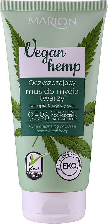 Mousse detergente viso - Marion Vegan Hemp Hemp & Goji Face Cleansing Mousse