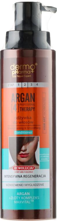 "Condizionante per capelli ""Rigenerazione intensiva"" - Dermo Pharma Argan Professional 4 Therapy Strengthening & Smoothing Conditioner — foto N1"