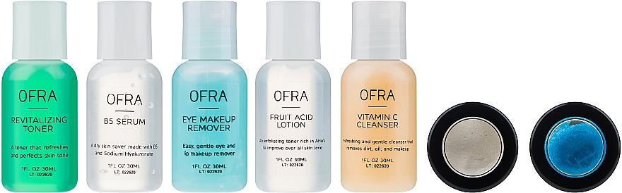 Set - Ofra Skin Care Kit Oily (cleanser/30ml + f/ton/30ml + eye/remover/30ml + ser/30ml + f/lot/30ml + b/scrub/7ml + f/mask/7ml + bag) — foto N3
