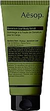 Profumi e cosmetici Scrub corpo alle foglie di geranio - Aesop Geranium Leaf Body Scrub
