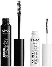 Profumi e cosmetici Set (mascara 10 ml + base 0,9 ml) - NYX Professional Makeup Double Stacked Mascara (01-Black)