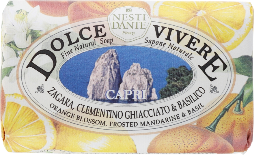 """Sapone naturale """"Capri"""" - Nesti Dante Dolce Vivere Soap"""