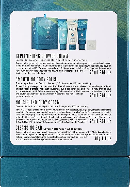 Set - Scottish Fine Soaps Sea Kelp Marine Spa Luxurious Gift Set(b/cr/75ml + b/peel/75ml + sh/cr/75ml + soap/40g) — foto N3