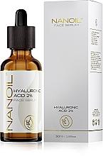 Profumi e cosmetici Siero viso idratante all'acido ialuronico per tutti i tipi di pelle - Nanoil Face Serum Hyaluronic Acid 2%