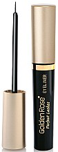 Profumi e cosmetici Eyeliner - Golden Rose Perfect Lashes Black EyeLiner
